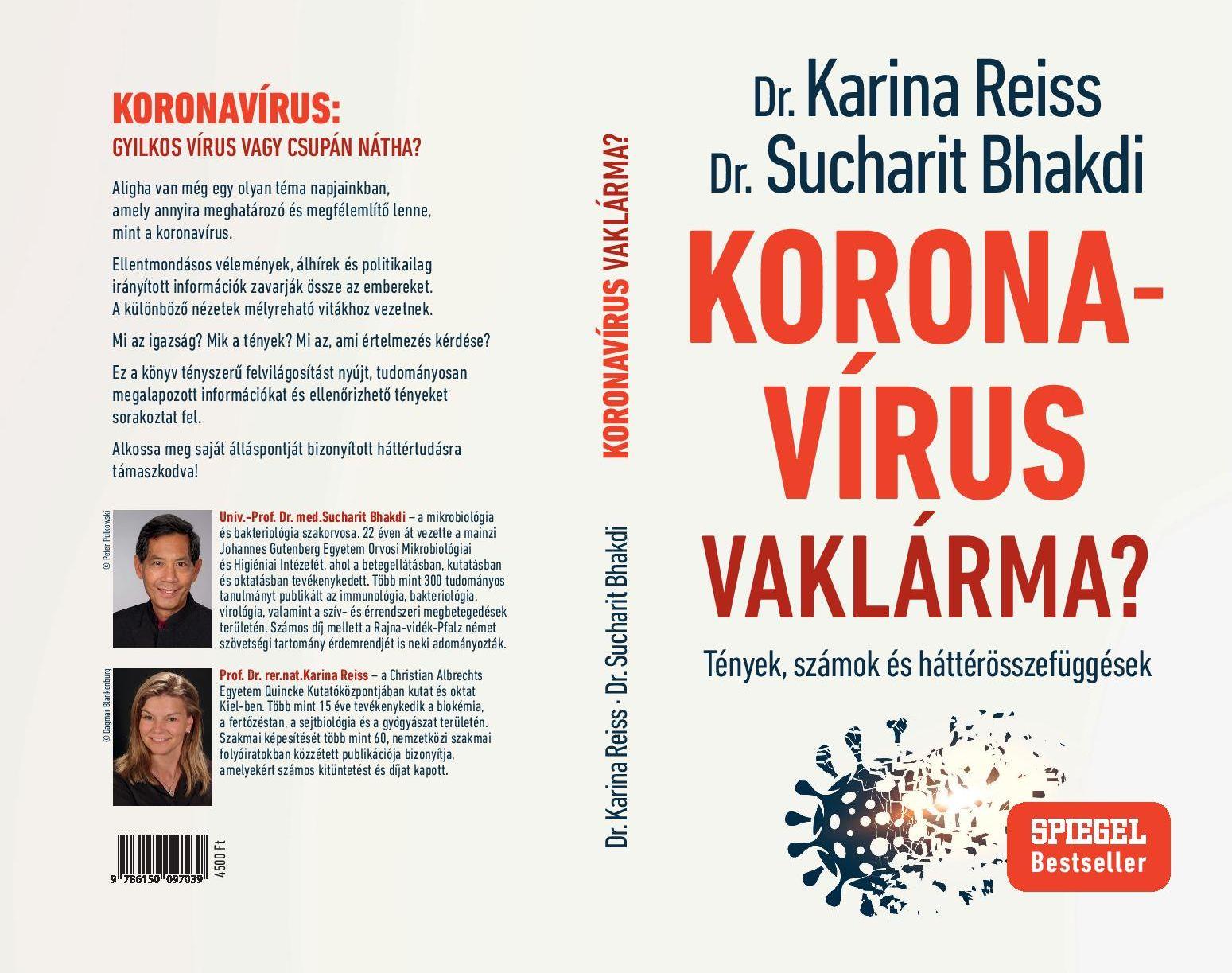 Könyvajánló: Dr. Karina Reiss – Dr. Sucharit Bhakdi – Koronavírus vaklárma?